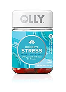 OLLY Goodbye Stress Gummy Supplements, Berry Verbena, 42 Count