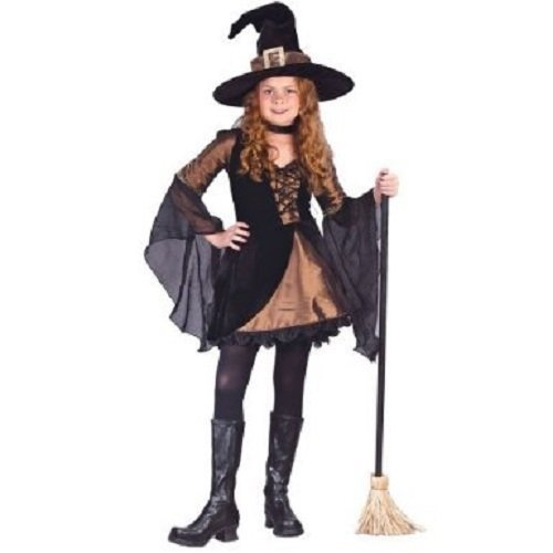 Fun World Girls 'Sweetie Witch' Child Costume, Copper/Black, M