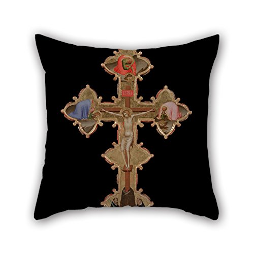 eyeselect Oil Painting Bernardo Daddi - Portable, Double Sided Cross (Verso) Cushion Covers 16 X 16 Inches / 40 by 40 cm Gift Or Decor for Bench Festival Chair Bedroom Teens Kids Girls - Twin Sides