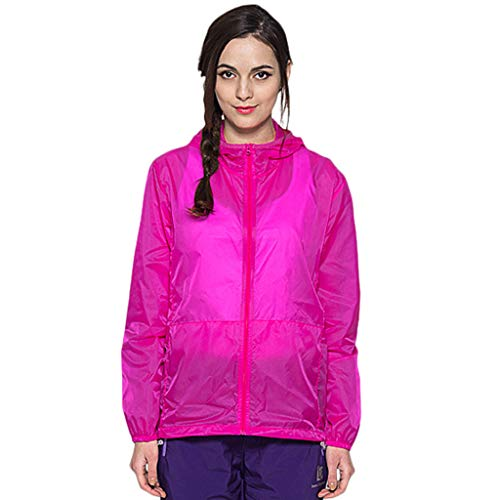 Women Men's/Youth UPF 50 Sun Protection Hoodie Long Sleeve Performance T-Shirt Windproof Outdoor Bicycle Sports Jacket Hot Pink