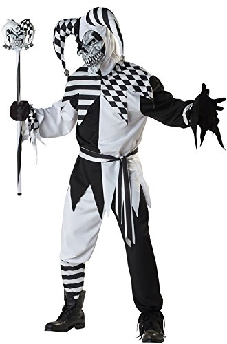 California Costumes Men's Platium Collection - Nobody's Fool Adult, Black/White, (Demonic Costumes)