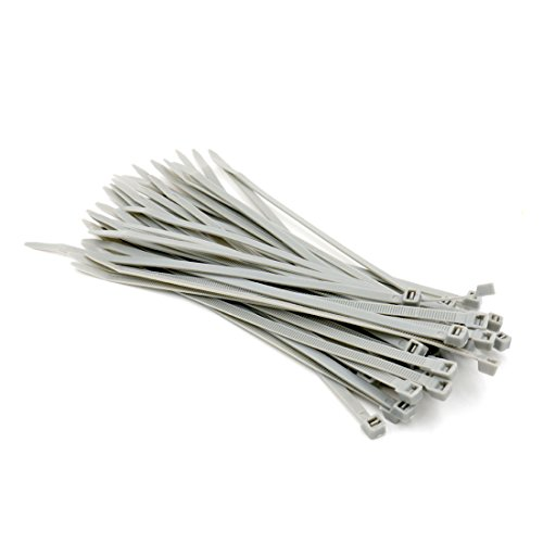 Baomain Plastic Nylon Zip Cable Ties Self Locking 8 inch Gray 100 Pack