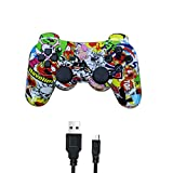 PUNING Wireless Controller for PS3 Witch Cable(Art) (Color: Art)