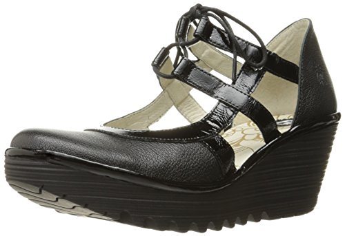 Pump Black Women's London Fly Damani Wedge Yett Mousse OSAxHqpn