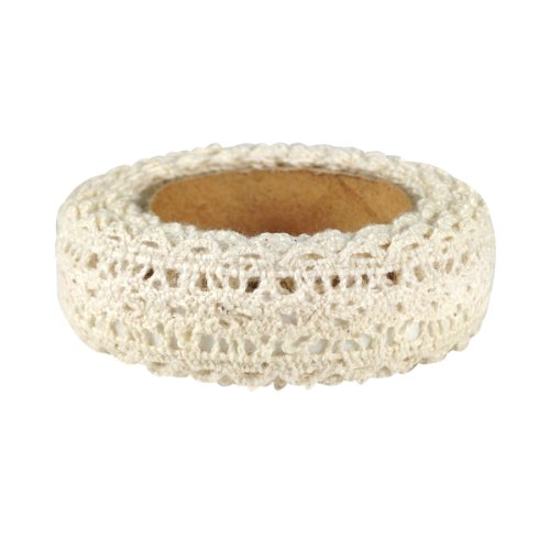 - Wrapables Decorative Lace Tape, 500cm by 15mm, Beige