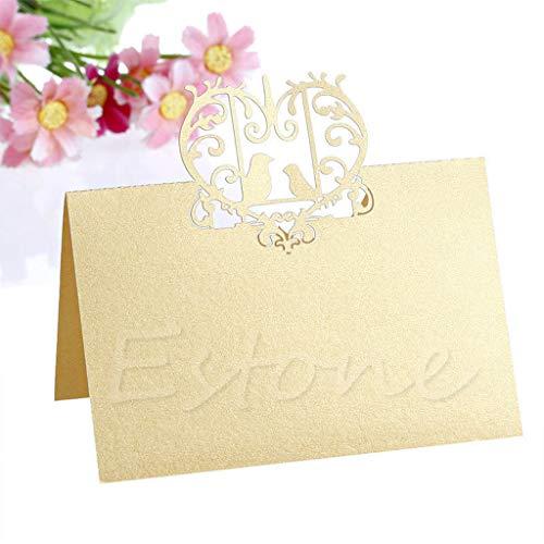 PoityA Wedding Lovebirds Place Name Cards Personalised/Tableware/Seating Decor ()