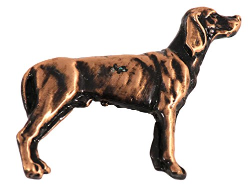 Creative Pewter Designs Pewter Full Body Vizsla Handcrafted Dog Lapel Pin Brooch, Copper Plated, DC474F