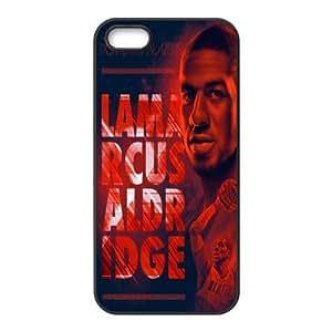 NBA star Portland Trail Blazers Aldridge Damian Lillard Print Black Case With Hard Shell Cover for Apple iPhone 5/5S