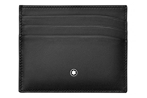 Montblanc Meisterstuck Business Card Holder MB-113172 Men's Grey Color Leather by MONTBLANC