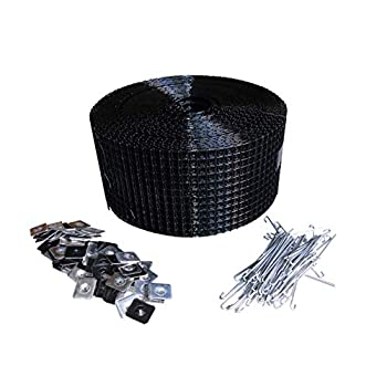Image of 6' Squirrel Guard Kit. 6 in. 100 ft. PVC Coated Galvanized Steel roll and 100 Aluminum Fasteners. Home Improvements