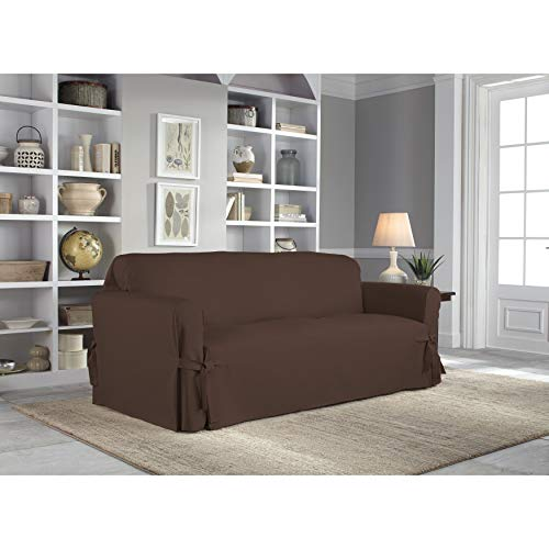 (Tailor Fit Relaxed Fit Cotton Duck Sofa Slipcover Cocoa)