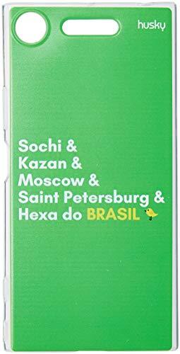 Capa Personalizada para Xperia XZ1 - Hexa do Brasil, Husky, Proteção Completa (Carcaça+Tela), Multicor