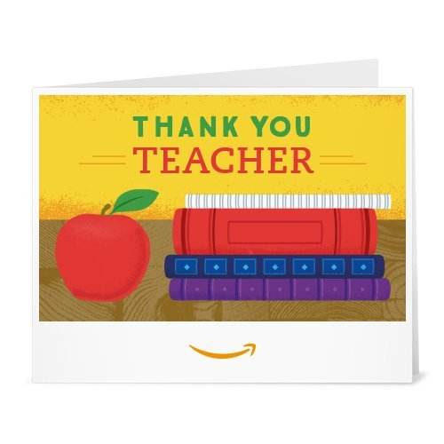 Amazon Gift Card - Print - Thank You Teacher (Books)