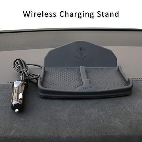 Wireless Charging Dashboard Phone Mount Pad Stand Base,No Slip Anti Skid  Car Visor Dash Organizer Holder Tray Storage for