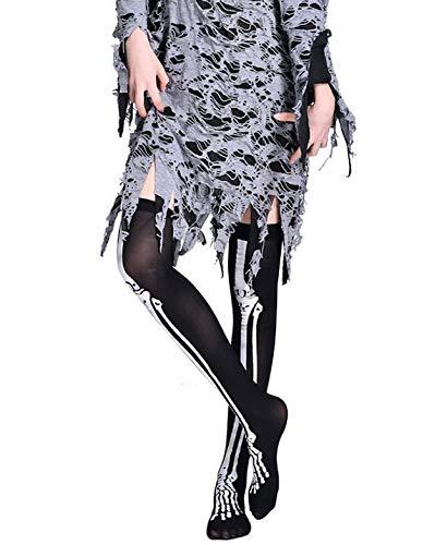 SuNiSER Halloween Socks,Wind Thigh High Warm Stockings Over The Knee Hight Long Athletic Sox