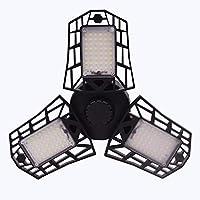 GARUNK LED Garage Light, Deformable LED Garage Lights 6000LM 60W Shop Light for Garage, with 3 Adjustable LED Panels, 6500k Daylight Garage Ceiling Light Led Workshop Light (No Motion Detection)