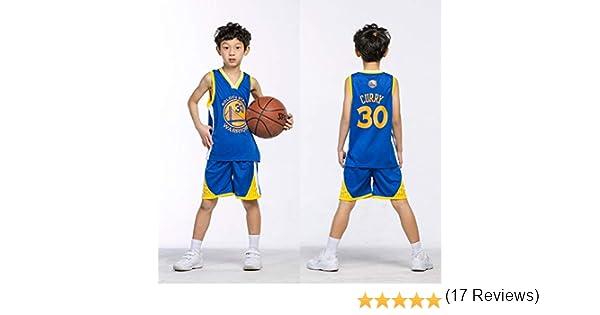 Maillots de Baloncesto para Niños - Conjunto NBA Bulls Jordan#23 / Lakers James#23 / Warriors Curry#30 Camiseta de Baloncesto Chaleco & Pantalones Cortos de Verano para Chicos y Chicas: Amazon.es: Ropa y accesorios