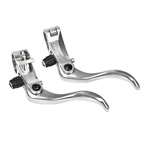 - Tbest 1 Pair Bicycle Brake Lever Left Right Hand Brake Levers Aluminum Alloy 24mm Mountain Bike Disc Brake Bar Handle Level Black Silver 1 Pair (Silver)
