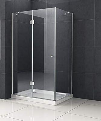 Cabina de ducha nixa 100 x 100 viertelkreis sin Taza ducha Mampara ...