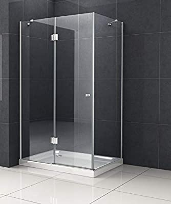 Cabina de ducha nixa 100 x 100 viertelkreis sin Taza ducha Mampara de ducha pared: Amazon.es: Bricolaje y herramientas