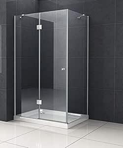 Cabina de ducha monett 80 x 90 cm, sin plato de ducha/Ducha Mampara de ducha pared: Amazon.es: Bricolaje y herramientas