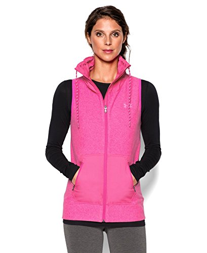 Under Armour UA ColdGear Infrared Hybrid Full Zip Fitted Vest (Medium) Pink
