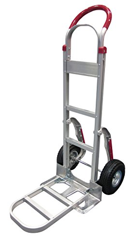 (Tyke Supply Aluminum Stair Climber Hand Truck with foldable extension nose Air Tires)