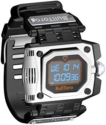 BullToro Men s Crown Operated Digital with Stainless Steel Case and Polyurethane Strap – 5000