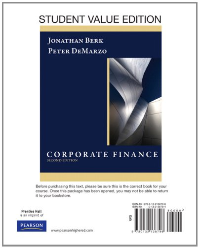 Corporate Finance, Student Value Edition (2nd Edition)