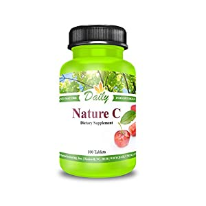 Daily Manufacturing Nature C 200mg Vitamin C from Acerola Cherries Vitamin C Complex…