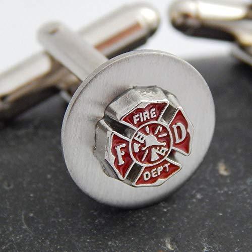 - Firefighter Cufflinks Fire Department Cuff links Maltese Cross Fireman Emblem Symbol