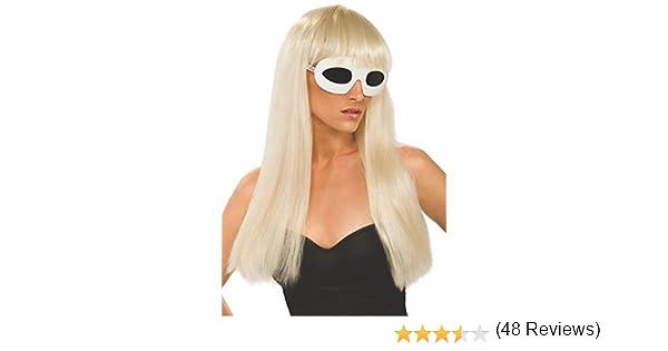 RUBBIES FRANCE I-51550 - Peluca Rubia con Flequillo para Disfraz de Lady Gaga: Amazon.es: Juguetes y juegos