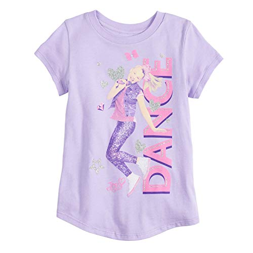 Jumping Beans Little Girls' 4-12 Big Bow JoJo Tee 4 Plum Heather from Jumping Beans