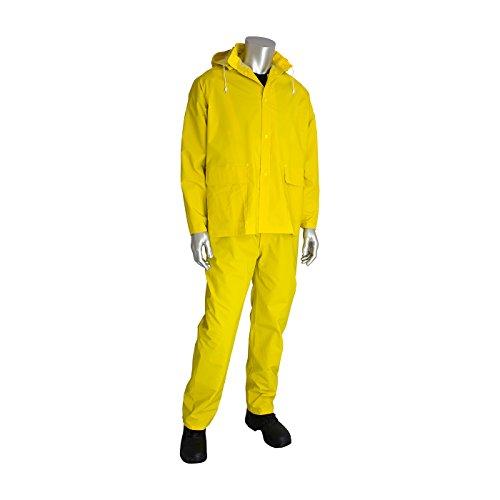 Falcon 201-370X4 Premium 3 Piece Rain Suit (Piece Industrial Rainsuit 3)