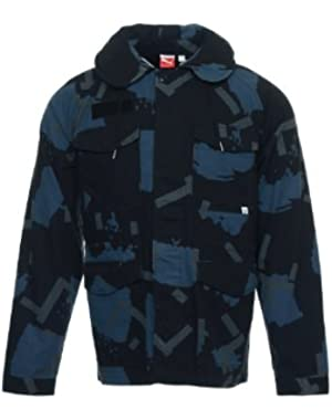 'Sport Lifestyle' Men's Black Camo Military Jacket