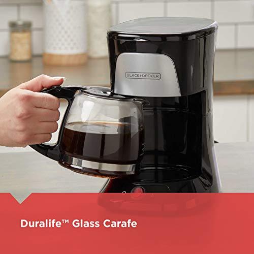 BLACK+DECKER 5-Cup Coffeemaker Duralife CM0555B
