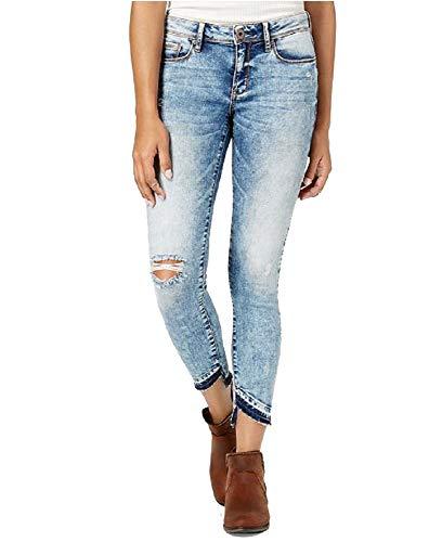 American Rag Juniors' Ripped Skinny Jeans (Blue, 3) ()