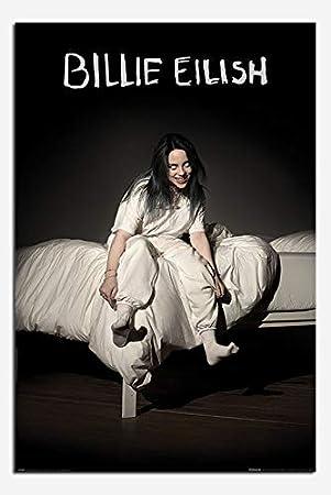 Cool Wall Decor Art Print Poster 24x36 Billie Eilish When We All Fall Asleep Where Do We Go