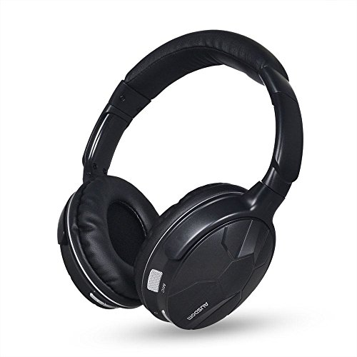 ausdom m04 bluetooth headphones over ear stereo wireless wired headsets hea. Black Bedroom Furniture Sets. Home Design Ideas