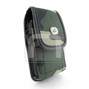Camouflage Design Vertical Heavy Duty Rugged Cover Belt Clip Side Case For ZTE Z431