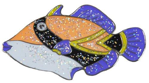- Navika NukuNuku Hawaiian State Fish Glitzy Ball Marker with Hat Clip