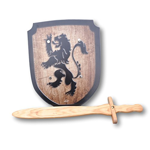 [Wooden Sword and Lion Shield Set] (Womens Three Musketeers Costumes)