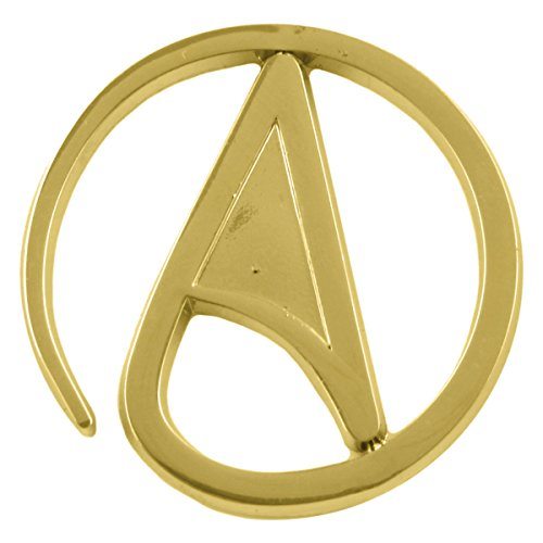 Circle Athiest Gold Lapel Pin - 1