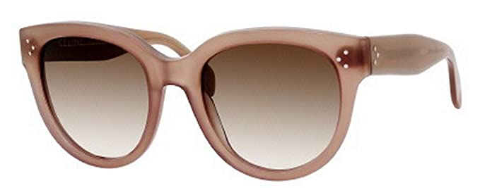 0e50032b71b8 Celine 41755 GKY Opal/Brown Audrey Round Sunglasses Lens Category 2 Size  55mm: Amazon.co.uk: Clothing