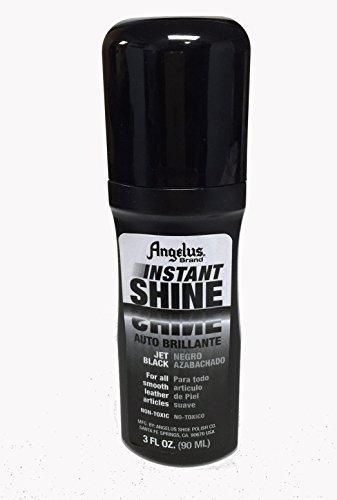 Angelus Instant Shine Liquid Shoe Polish 3 Fl Oz (color variety) (Express Black Leather)