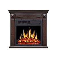 R.W Flame Electric Fireplace Mantel Wood...