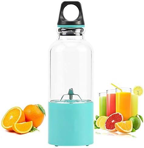 Mryishao Exprimidor de cocina 500ml Electric Juicer Machine Cup Portable Al Aire Libre Viaje USB Recargable Blender Mini Juice Maker Mezclador de Frutas Exprimidor