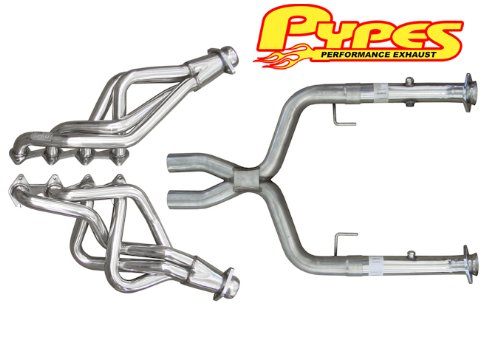 Pypes Exhaust HDR55SK 05-10 Mustang GT Pypes Long Tube Headers With X-Pipe - Torque Tube Header
