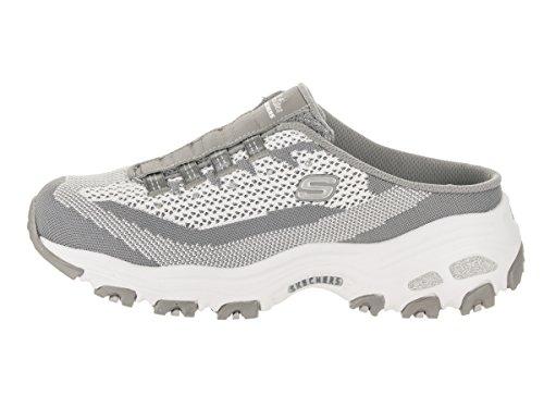 Slip Sport Gry Skechers Sneaker on D39;Lites Wht Mule wfn4FUgq