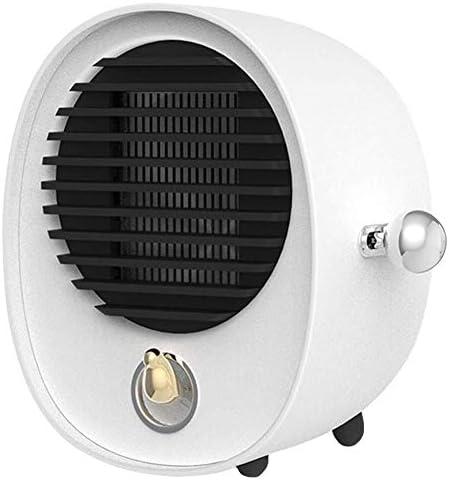ZHWEI 電気ヒータ、ファンヒータ、PTC加熱要素速いヒータ ポータブル (Color : White)